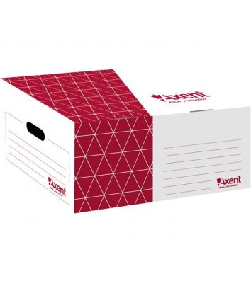 Короб архивный красный, Axent
