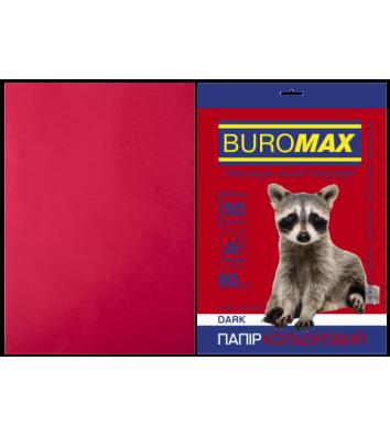 Бумага А4 80г / м2 50л цветная бордовая, Buromax