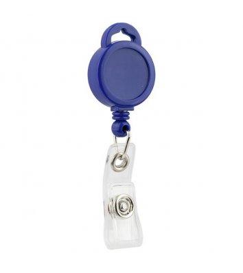Кліп-рулетка для бейджа синя, Axent
