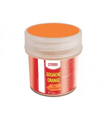 Краска гуашевая 40мл оранжевая, Maxi