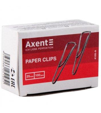 Скріпки 25мм 100шт трикутні, Axent