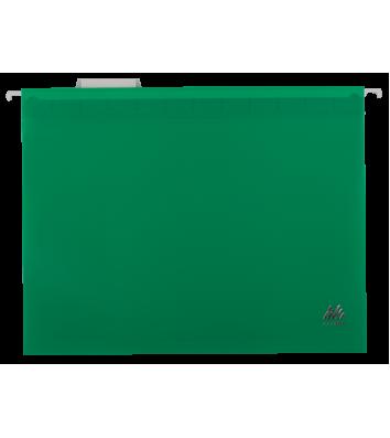 Файл підвісний А4 пластиковий зелений, Buromax