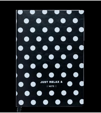 Діловий записник клітинка А5 Relax чорний, Buromax